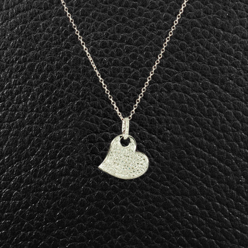 Stylized Diamond Heart Pendant