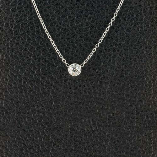 Bezel set Solitare Diamond Pendant