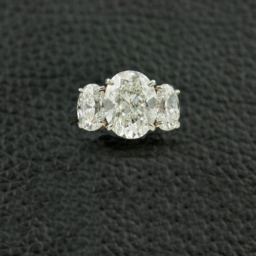 Triple Oval Diamond Ring
