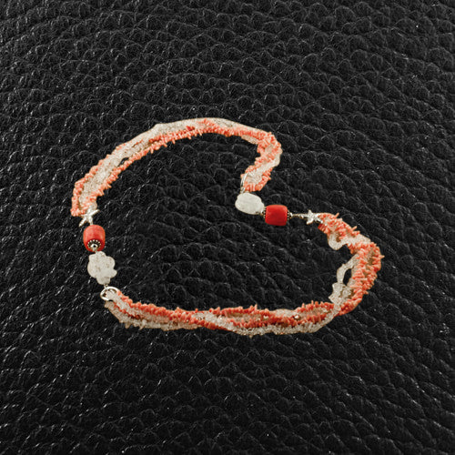 Coral & Crystal Necklace