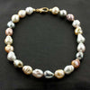 Multi-color Baroque Pearl Necklace