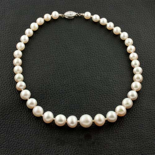 Cartier Estate Certified Natural Pearl Necklace