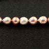 Pinkish Peach Tone Cultured Baroque Pearl Necklace
