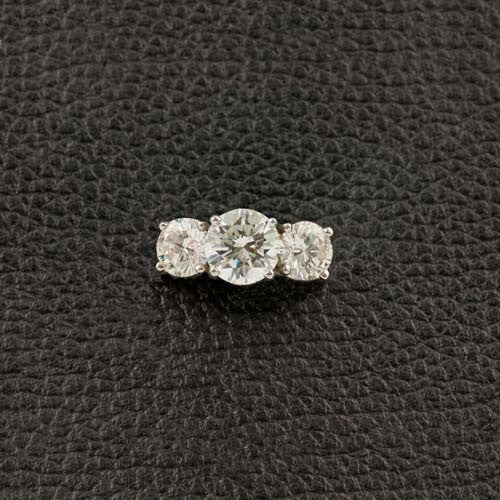 Three Stone Round Diamond Ring