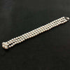 Triple Row Pearl & Diamond Bracelet