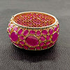 Ruby & Diamond Hinged Bangle Bracelet