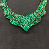 Multi-Emerald Bib Necklace