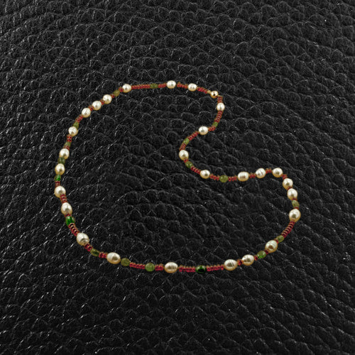 Baroque Pearl & Tourmaline Necklace