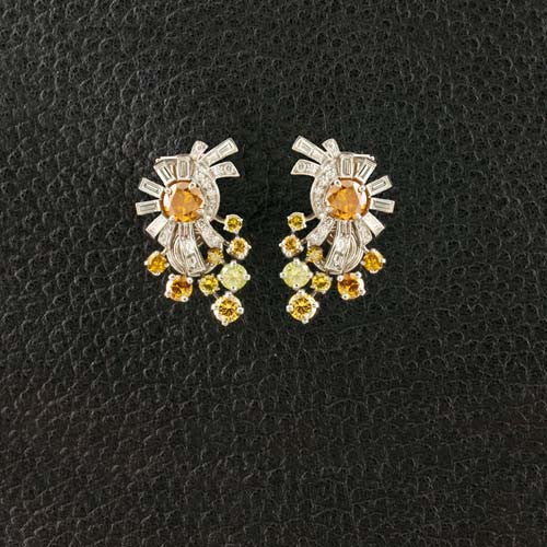 Raymond Yard Estate Diamond Earrings