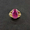 Pink Tourmaline & Diamond Estate Ring
