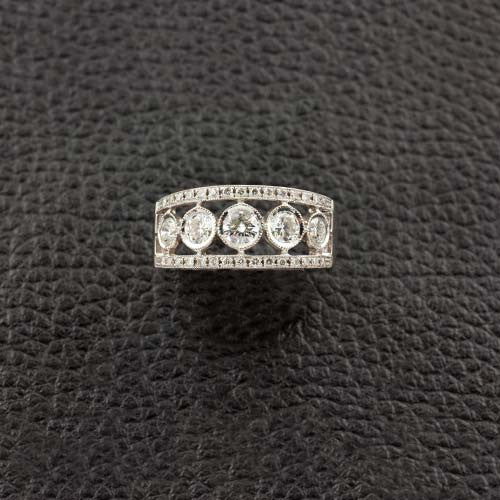 White Gold & Diamond Wedding Band