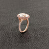 Oval Diamond with Pink & White Diamond Halo