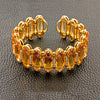 Citrine, Orange Sapphire & Diamond Cuff Bracelet