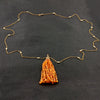 Mandarin Garnet & Diamond Tassel Necklace