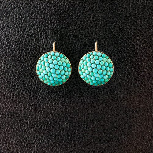 Turquoise Bead Estate Earrings