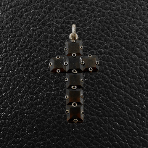Garnet Cross Estate Pendant