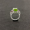 Peridot, Pink Tourmaline & Diamond Ring