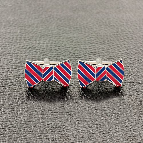 Red & Blue Bow Tie Cufflinks