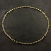 Gold Oval and Round Link Chain Necklace