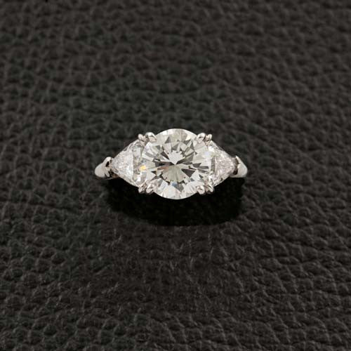 Round & Trilliant Diamond Engagement Ring