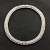 Three Row Diamond Necklace