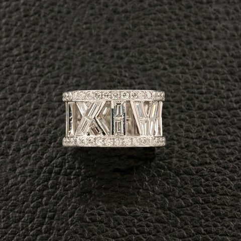 Eternity Band with Diamond Roman Numerals