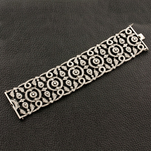 Intricate Design Diamond Bracelet