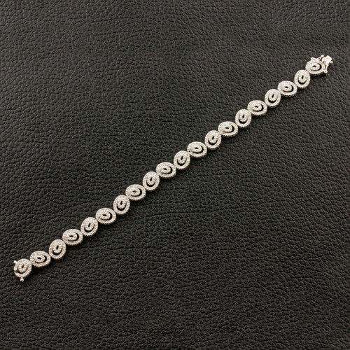 Double Oval Link Diamond Bracelet