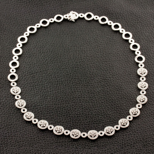Diamond Circle Motif Necklace