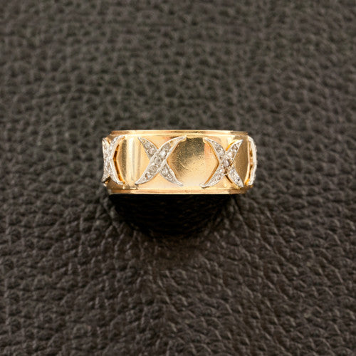 "Diamond ""X"" Estate Wedding Band"
