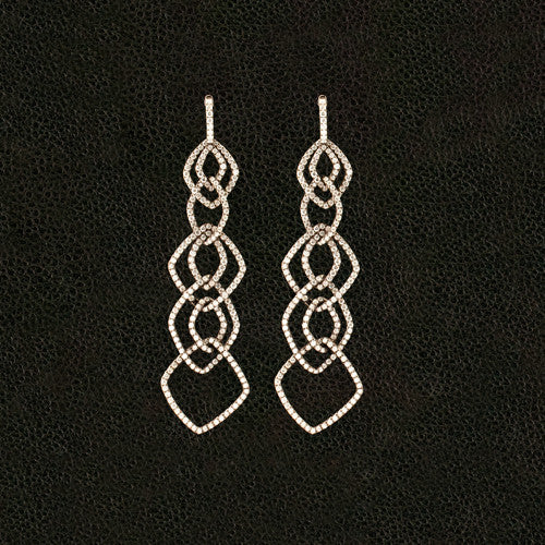 Cascading Dangle Diamond Earrings
