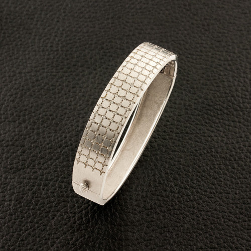 White Gold & Diamond Bangle Bracelet