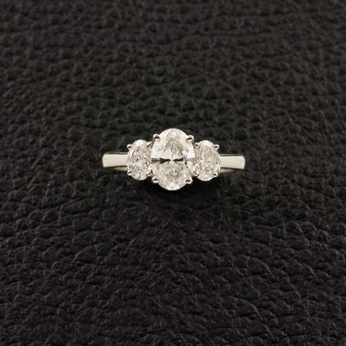 Three Oval Diamond Ring