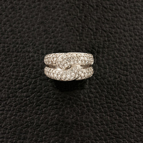 Interlocking Diamond Loop Ring