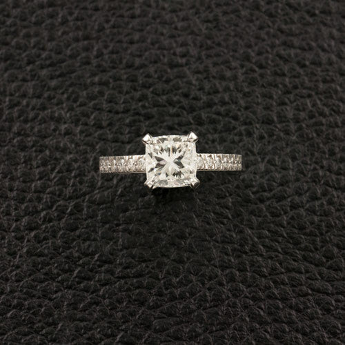 Cushion & Round Diamond Engagement Ring