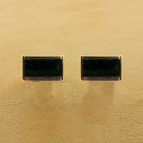 Brown Stone & Gold Estate Cufflinks