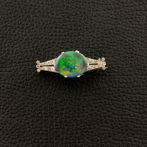 Opal & Diamond Estate Pin