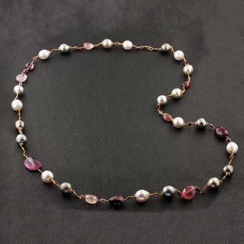 South Sea, Tahitian Pearl & Bead Necklace