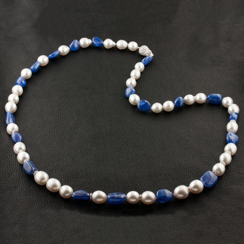 South Sea Pearl, Tanzanite & Diamond Necklace