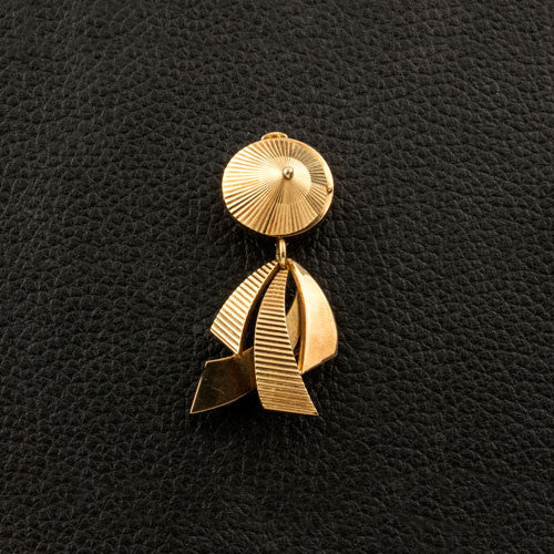 Yellow Gold Estate Watch Pin