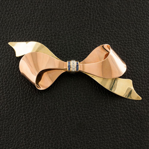 Estate Bow Pin