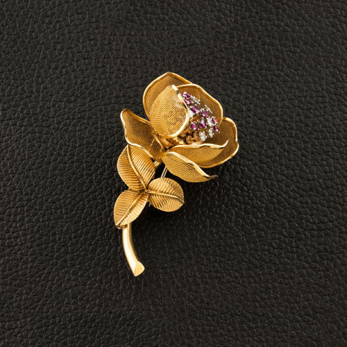 French Rose Estate Pin