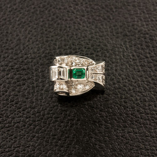 Emerald & Diamond Estate Ring