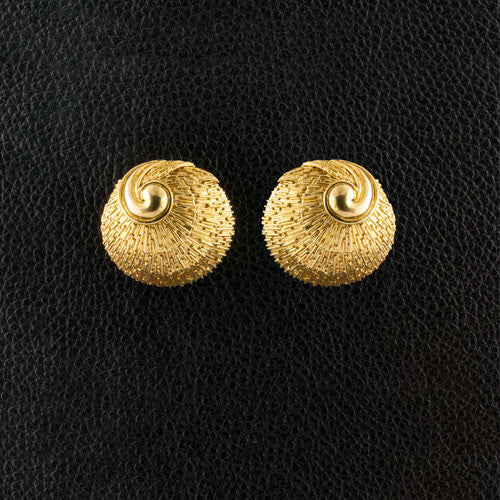 Gold Shell Estate Earrings