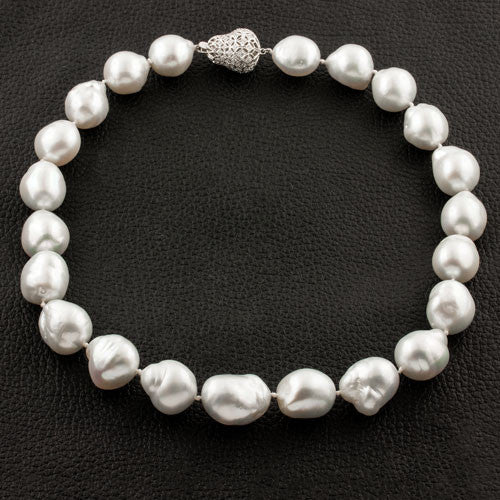 Baroque Pearls & Diamond Necklace