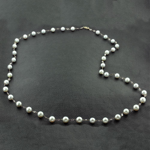 South Sea Pearl & Moonstone Necklace