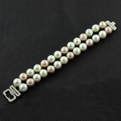 Pearl & Diamond Bracelet