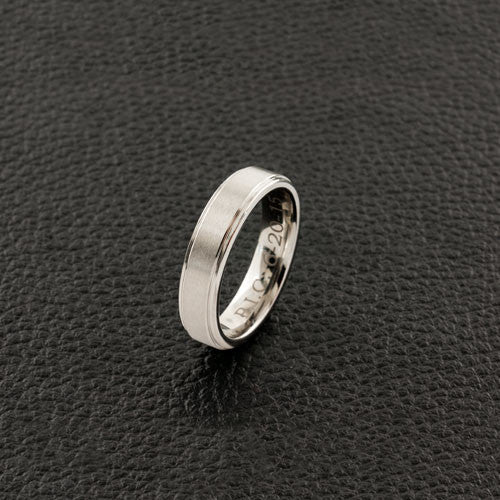 Satin Finish Cobalt Wedding Band
