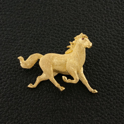 Trotting Stallion Pin
