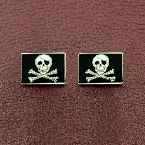 Jolly Roger Enamel Cufflinks